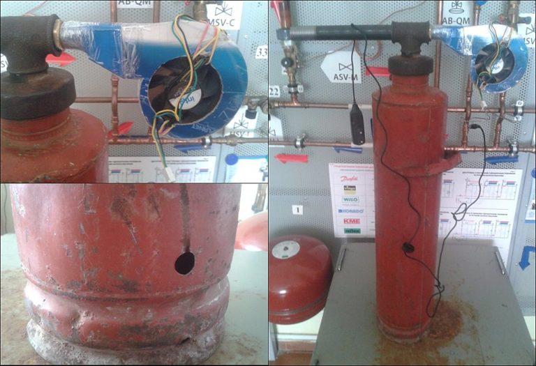(Рис. 7 - Нагнетатель воздуха из кулера для дымогенератора)