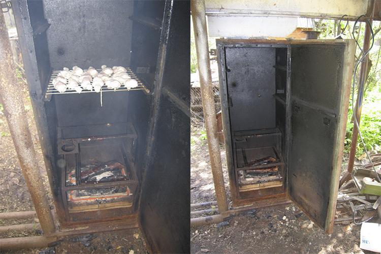 Как сделать коптильню из старого холодильника